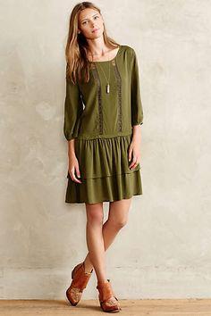 Tiered Sage Dress