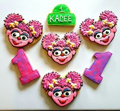 Abby Cadabby Sesame Street Inspired Cookies