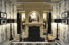 Once Upon a Time set - designer - cool office of the Mayor Regina Mills (Lana Parrila) #OUAT interior design inspiration ideas