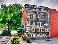 Mail Pouch Tobacco Ghost Sign in West Virginia
