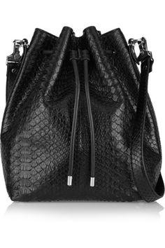 PROENZA SCHOULER Bucket large python shoulder bag