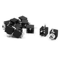 Promosyon! 10 Adet 3 Pins Şasi Dağı Kadın 3.5mm Stereo Jacks Soket Konnektörleri