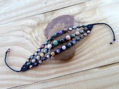 Hey, I found this really awesome Etsy listing at https://www.etsy.com/listing/217479615/agate-macrame-bracelet-stone-bracelet