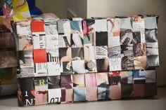 Borsa di carta realizzata con le pagine della rivista Vogue! 55,0 € #vogue #bags #borse #fashion