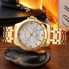 CHENXI Luxury Gold Watch Men Women Fashion Top Brand Quartz Watches Business Lover's Wristwatch Male Clocks Relogio Masculino