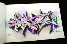 "Graffiti Blackbook work by ""JATER"""