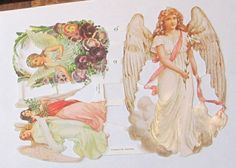 German Victorian Christmas Easter Angels flowers by TheWisdomTree