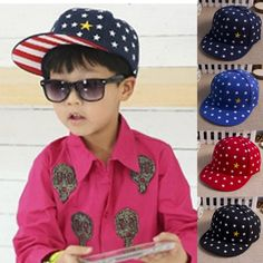 2014 New Children s summer embroidery pentagram snapback Flat-brimmed hat  Hip-hop hat Baseball cap Free shipping  6.70 ff1a93363c94
