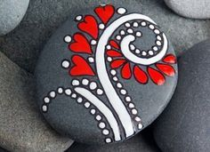 Get creative with these DIY painted rocks. From mandala rocks to easy painted rock crafts for kids, there are plenty of ideas for inspiration. Rock Painting Designs, Painting Patterns, Paint Designs, Pebble Painting, Pebble Art, Stone Painting, Diy Painting, Painting Lessons, Painting Stencils