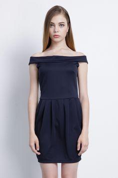 b7ebf6354a1 Graceful Sexy Off-the-shoulder Pleated Mini Dress. on Luulla Cute Dresses