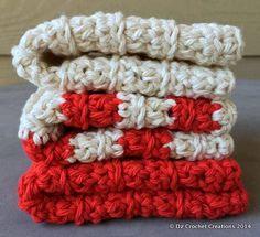 Crochet Wash Cloths  Cotton Crocheted Wash Cloths  by HandMadeByDz, $9.00