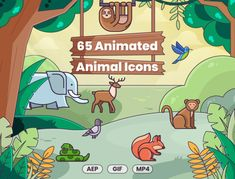 Imagine 65 adorable animals roaming around on your social media, website, app, presentations, YouTube channel, and other customer touchpoints...These aren't just any type of animals - they're animated AND they're icons. They also happen to be available in multiple formats - like #AEP, #GIF, and #MP4. Download from Creative Market today! #flaticons #creativemarket #animatedanimals #icondesign #animals Cartoon Gifs, Cartoon Drawings, Crocodile Cartoon, Animated Icons, Custom Icons, Drawing For Kids, Adorable Animals, Icon Set, Icon Design