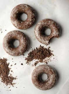 the best baked chocolate donut recipe on aliceandlois.com