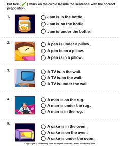 Choose the sentence with the correct preposition - TurtleDiary.com