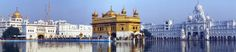 Golden Temple Amritsar - panaroma of Golden Temple, Amritsar, Punjab, India
