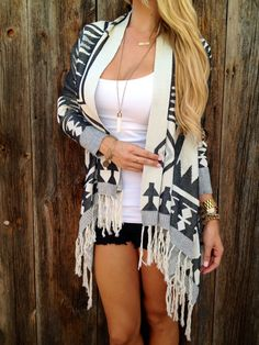 Dakota Fringe Cardigan