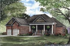 Southern Plan: 2,100 Square Feet, 3 Bedrooms, 2 Bathrooms - 110-00356