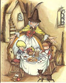 A Tale of Hansel and Gretel - 'Nibble, Nibble Mousekin' - illustrated by Joan Walsh Anglund Bffs, Joan Walsh, Hansel Y Gretel, Classic Fairy Tales, Fable, Fairytale Art, The Villain, Thing 1, Children's Book Illustration
