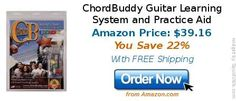 ChordBuddy Guitar Learning System and Practice Aid
