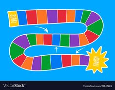 Colorful board game template vector image on VectorStock Activity Games, Activities, Board Game Template, Learn Arabic Alphabet, Virtual Games, Learning Arabic, First Day Of School, Games For Kids, Board Games