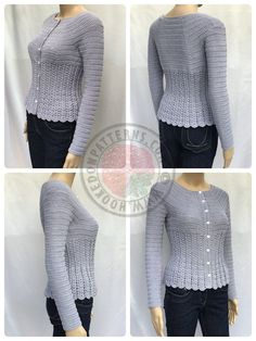 Cardigan crochet pattern - Kamila: Using subtle darting, to shape andform, thisis stunning.Agentle swoop in at the waist,beforeskimming over the hips.