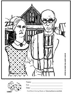 Bobs burgers coloring pages free to print coloring pages for American gothic coloring page