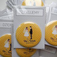 Magnesy - podziękowania dla gosci - odcisk serca - 100 sztuk Z OPAKOWANIEM (sprzedawca: polkastudio), do kupienia w DecoBazaar.com