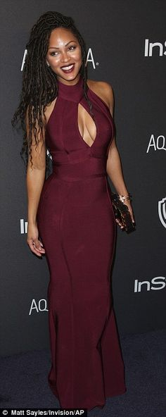 Red alert: Meagan Good and Jackie Cruz looked fantastic in varying shades of red...