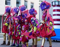 Limburgian Carnaval, it's a yearly widely celebrated event where parade's are held and people dress in a extravagant way.