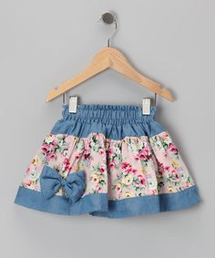 With a cheerful mix of prints, easy-on elastic waistband and flared fit, this skirt will look sweet paired with all sorts of tops. Soft cotton construction means this girly goody is as comfy as it is charming. by cornelia Little Girl Skirts, Baby Girl Skirts, Baby Skirt, Skirts For Kids, Baby Dress, Sewing For Kids, Baby Sewing, Toddler Skirt, Kind Mode