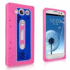Pink Retro Cassette Tape Silicone Case Cover for Samsung Galaxy S 3 S3 III + S