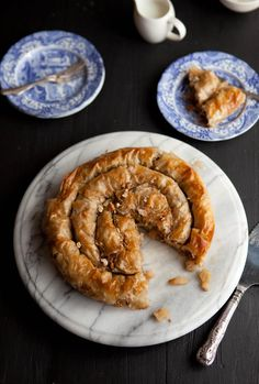 Apple and phyllo pie