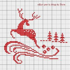 Cross Stitch Christmas Ornaments, Christmas Cross, Vintage Christmas, Xmas, Cross Stitch Charts, Cross Stitch Embroidery, Cross Stitch Patterns, Le Blog De Vava, Filet Crochet