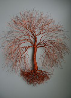 "A large (20""x 20"") hanging, copper wire tree. See more of Twisted Forest's Copper Wire Collection at: www.facebook.com/TwistedForest"