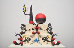 A Miro inspired cake shipped to the south of France! By Sylvia Weinstock Cakes