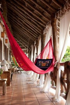 CasaSandra in Holbox, Mexico - This picture is in my bridal magazine... I like sitting in hammocks with my man in mexico.