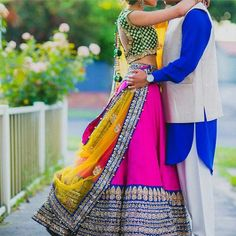 Colours look beautiful together Big Fat Indian Wedding, Indian Bridal Wear, Indian Wedding Outfits, Indian Outfits, Indian Attire, Indian Ethnic Wear, Indian Style, Desi Wedding, India Wedding
