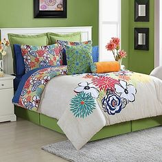 This is fun and bright!  Fiesta® Lucia Reversible Comforter Set