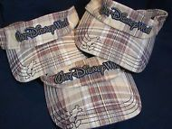 Walt Disney World Sun Visors Plaid Mickey Lot of 3 Family Friends Golfing SALE