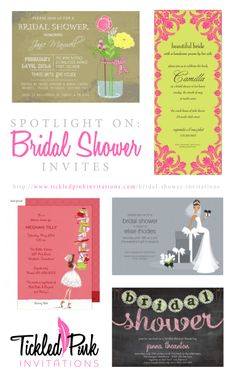 Maid of Honor? Let us help you plan that bridal shower! #invitations #wedding http://www.tickledpinkinvitations.com/bridal-shower-invitations