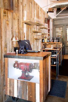 Old Major host stand. #finartco #finart #denver #restaurant #design