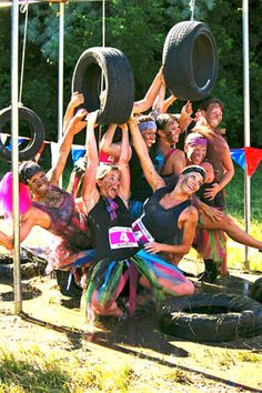Kiss Me Dirty 5K Race! An all girl, 5K, mud run obstacle course! Fun! A proceed of your registration fee benefits gynecological cancer research. Doing this in June!!