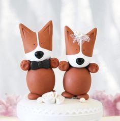 corgi wedding cake topper!