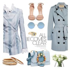 Walk the talk by pensivepeacock on Polyvore featuring moda, Burberry, Stuart Weitzman, Miu Miu, Nest, Links of London, Sunday Somewhere, LSA International and Zimmermann