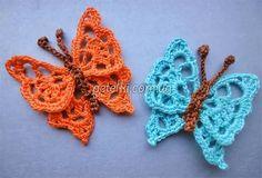 Mis Pasatiempos Amo el Crochet: Mariposa punto calado