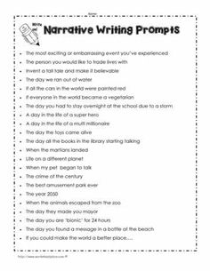 Here are 22 ideas to get you started on your narrative journal entry! 4th Grade Writing Prompts, Narrative Writing Prompts, Personal Narrative Writing, Writing Prompts For Kids, Paragraph Writing, Teaching Writing, Writing Skills, Writing Ideas, Writing Activities