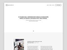My Website Design In Progress 1/2 by Michal Zulinski