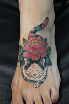 Tattoos By Horitomo: Cute And Creative Monmon Cats