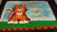 1/2 sheet Tiger Crotch Birthday Cake, Super Hero