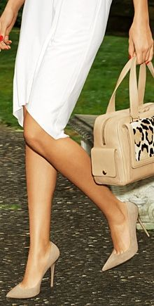 nude heels, so nice to see something without a peep toe or platform for a change